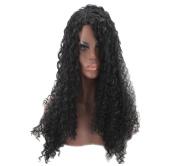 Women's Wig Hood Long Curly Black Hair Natural Fluffy Wig Fashion Wig Hood