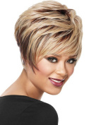 Women's Wigs Fashion Trends Short Hair Curly Linen Wig Hood