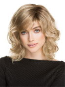 Lady Fashion Wig Hood Linen Gradient Wig Long Curly Hair Personality Hood