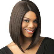Women Wig Short Straight Hair In The Points Within The Buckle Hair Wig Hood