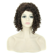 Individual Wigs Both Men And Women Can Use Short Curly Hair Natural Fluffy Wig Hood