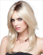 Women's Fashion Wig Gradient Partial Long Curly Hair Linen-coloured Wig Hood