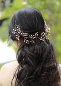 Handmadejewelrylady Bridal Rose Gold Leaf Headband Wedding Hair Accessories Bride Hair Jewellery For Women Headpiece Tiara