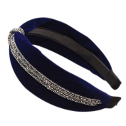 Atommy cute hair band Exquisite production Elegant design Girl Headdress The perfect accessory to keep hairstyles Headband jewellery - Blue