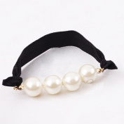 Fostly Pearl Hair Tie Elastic Hair Bands Ponytail Holder Hair Rope Accessories For Girl