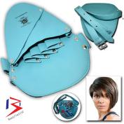 BeautyTrack Leather Rivet Hair Scissor Bag Clips Bag Hairdressing Barber Scissor Pouch