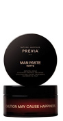 Previa Man Paste Matte Natural Hold Contains Organic Absinthe Caution !!! May Cause Happiness Blended in Italy 100 ml