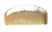 Small pocket comb in natural horn - Soft roundness Model