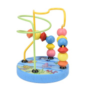 Sansee Educational Baby Kids Wooden Around Beads Maze Toy Roller Coaster Around Bead MazeToddler Infant Intelligence Toys