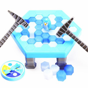 ZZM Save Penguin On Ice Game, ZZM Penguin Trap Activate Funny Family Party Ice Breaking Kids Puzzle Table Knock Block