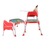 Smibie Simple Fold High chair for Baby with Tray Portable Dining Chair-Red