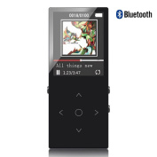 ChenFec MP3 Player Bluetooth 16GB with Shuffle Player HIFI Lossless Sound Music Playback Touch Screen Boutton and FM Playlist Ablum Functions Support SD card up to 64gb Black
