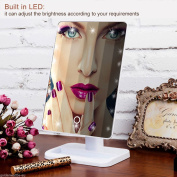 Ardisle LED Touch Mirror Dressing Table top Cosmetic Vanity light up Hollywood Large Screen Makeup with Lights, 20 Bright LEDs, 30cm with Touch Dimmable Memory Function 10x Magnification Spot