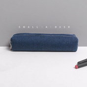 WRITIME Wholesale Pencil Cases Holders Pencil cotton denim large capacity student stationery bag,blue