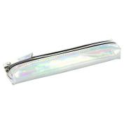 Iridescent metallic slim pencil case