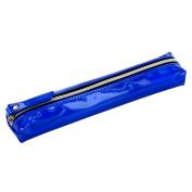 Blue metallic slim pencil case