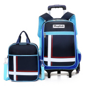 Rolling Backpack , Asdomo Wheeled Backpack Luggage with Small Book Bags Six Wheels Waterproof Trolley Schoolbag for Boys Girls Kids Teenagers Students Schooling Travel