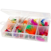 Wakeman Outdoors Assorted Dry Fly Fishing Flies, 50 Pieces