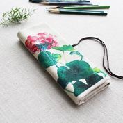 WRITIME Wholesale Pencil Cases Holders Canvas Large Capacity Pen Bag Cute Roller Pen Bag Boys and Girls Pens Portable Pouch Gift,A
