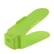Home Plastic Heel Shoe Holder Organiser Rack Collector Stacker Storage Green