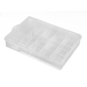 Fishing Accessories Plastic Rectangle Shape Bait Tackle Tool Storage Box Clear