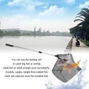 Fishing Landing Net Telescoping Aluminium Alloy Handle Triangular Brail