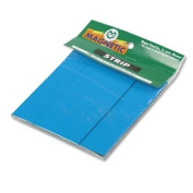MAGNA VISUAL, INC.                                 Magnetic Write-On/Wipe-Off Pre-Cut Strips 2 x 7/8, Blue, 25 per Pack