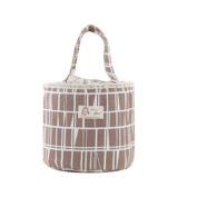 Saint Kaiko Cotton Linen Thermal Lunch Bag Reusable Insulated Lunch Bag Cooler Bag Picnic Bag Tote Bag Lunch Storage Bag Food Storage Bag