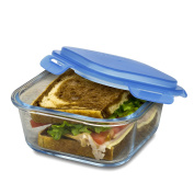 Smart Planet Pure Glass Sandwich Meal Container, , Clear
