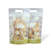 50Pcs/lot Plastic ZipLock Bags For Tea Powder Nut Candy Cookie