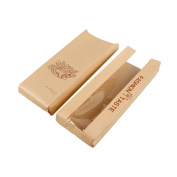 50pcs/lot Kraft Paper French Toast Bread Bags with Front Window