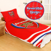 Arsenal F.C. 'Pulse' Reversible Single Duvet Quilt Cover Set