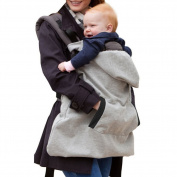 Butterme Universal All Season Baby Carrier Cover Thick Windproof Hoodie Cape Cloak Mantle with Warm Fleece Lining and Detachable Hood