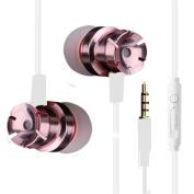 Stylish Sport In-ear Earphones,Y56 Metal Stereo Headphone Bass Earphone Sport Headset Hands Free Earbuds With Mic 3.5mm(Ergonomic Design)