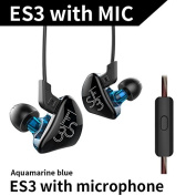 KZ ES3 1DD 1BA Hybrid Dynamic And Balanced Armature Earphone In Ear HIFI Stereo Sport Headset with Mic for iPhone Samsung Xiaomi Phone Tablet PC MP3 MP4