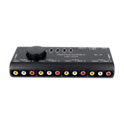 SummerYoung 4 in 1 AV Audio Video Signal Switcher Splitter 4 Way Selector with USB for Television DVD VCD TV
