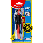 Visio Left Handed Pen 3/Pkg-Black, Blue, & Red