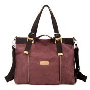HongyuTing Women's Vintage Canvas Shopper Tote Top Handle handbag Cross body Shoulder Bag