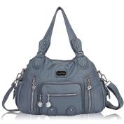 Veevan Washed Leather Vintage Hobo Style Shoulder Handbags