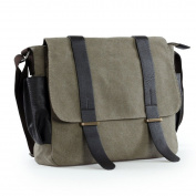 Messenger bag,LOSMILE 34cm Canvas laptop bags. Shoulder Bag ipad Bag Satchel School Bag.