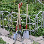 Darice Wood & Metal Garden Tool Set for Miniature Garden, Fairy Garden