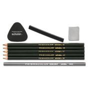 Scholar Erasable Coloured Pencil Set, 4B/4H/2B/2H/6B, 9 Assorted Colours/Set, Sold as 1 Package, 9 Each per Package