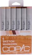 """Copic Markers 6-Piece Sketch Set, Skin Tones I"""