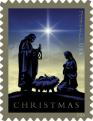 Nativity USPS Forever First Class Postage Stamp U.S. Holy Family Holiday Christmas Sheets (20 Stamps)