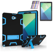Shockproof Hard Rubber Case Cover for Samsung Galaxy Tab A 10.1 S Pen P580