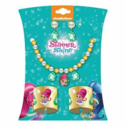 Shimmer & Shine Deluxe Jewellery Set Necklace, Earrings And Cuff Bracelets Dress Up Accessories For Girls