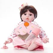 Hmhope Lifelike Reborn Baby Simulation Cloth Body Silicone Lovely Boy Girl Toy Sleeping Doll 50cm
