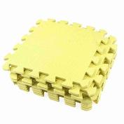 Move & Moving(TM) 9 Pcs Yellow Interlock Puzzle EVA Foam Floor Mats 28cm x 28cm