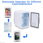 New 12V White Car Home Travel Small Refrigerator Mini Fridge Cooler/Warmer- 4L T