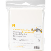 Neenah A2 Heavy Weight Cards/evelopes 10/pkg-natural White